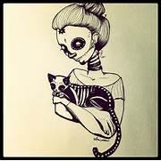 dia-de-los-muertoscatgirl